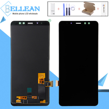 Catteny 1Pcs 6.0Inch 2018 A8 Plus Lcd Touch Screen Digitizer Assembly For Samsung Galaxy A730 Lcd A8 plus A730F Display FreeShip full cover tempered glass for samsung galaxy a8 2018 a730 a730f a730f ds duos plus a8 plus screen protective black display case