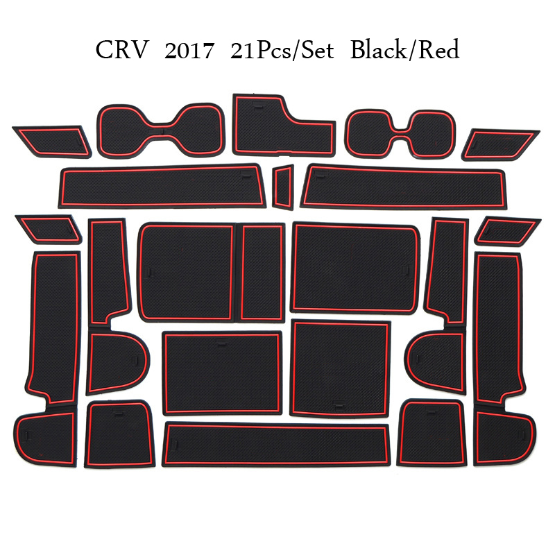 Gate slot pad For Honda CRV 2017 Door Groove Mat Automotive interior Non-slip mats and dust mat Car Styling Accessories for honda stepwgn 2015 2018 non slip mats rubber cup cushion door groove mat 2016 2017 accessories car styling car stickers