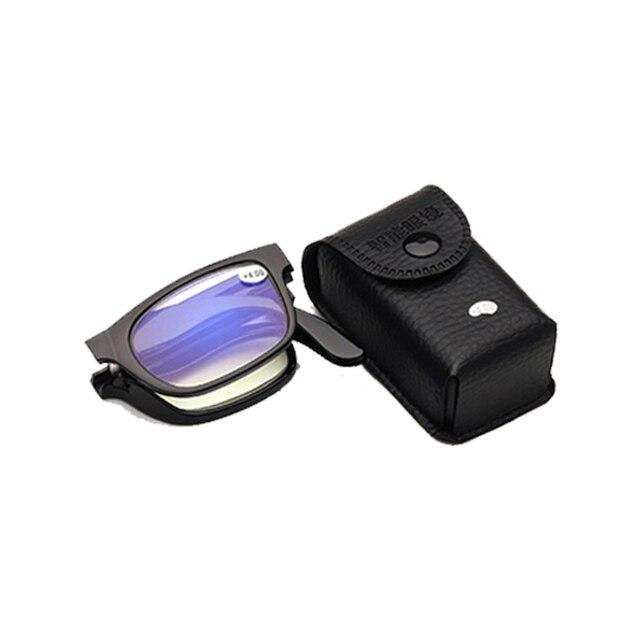Unisex Foldable Reading Glasses Folded Hanging +1 +1.5 +2 +2.5 +3 +3.5 +4.0 Presbyopic Eyeglasses Full Frame
