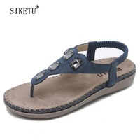 65b35214d SIKETU Summer Women Sandals Gladiator Bohemia Fashion Platform Wedges Beach  Sandal Flip Flops Casual Shoes Rhinesto. SIKETU Verão Boemia Das Mulheres  ...