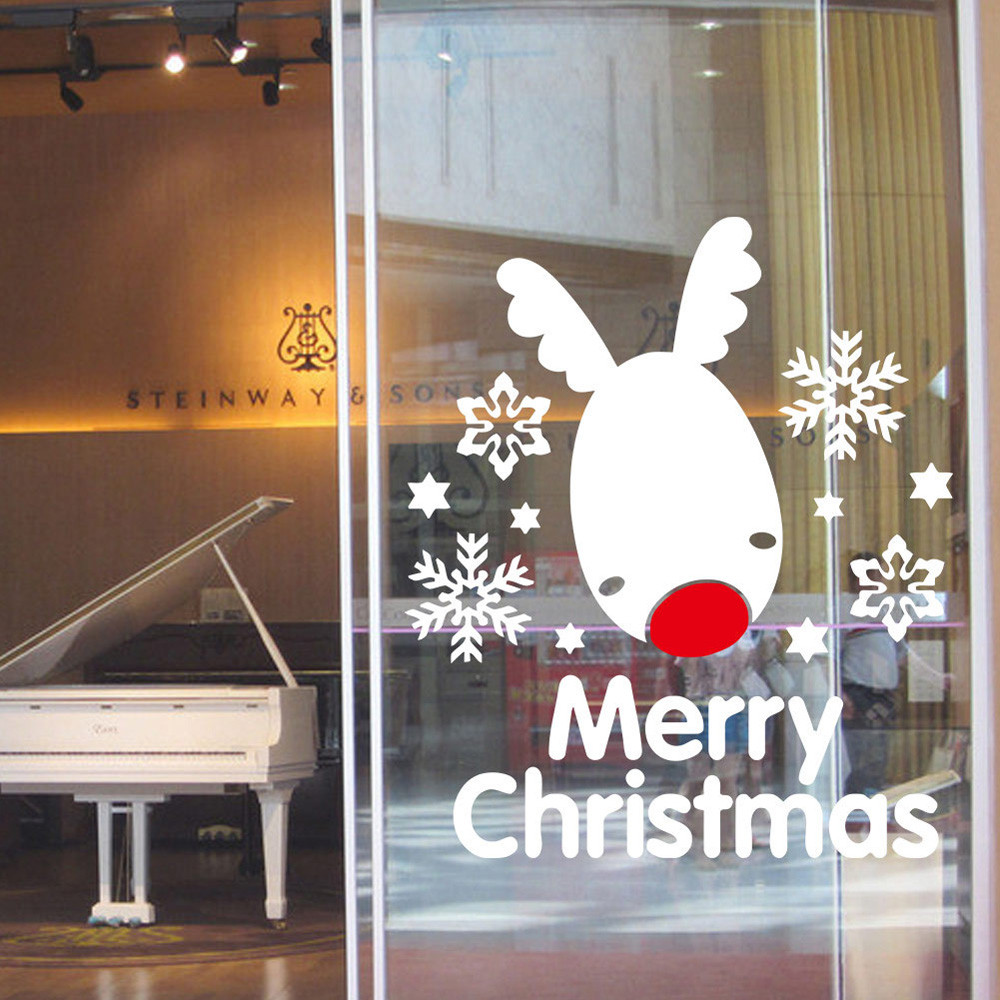 online get cheap merry christmas wall decal aliexpress com 1pc xmas decoration merry christmas snowflake pvc wall stickers vinyl home wall decals merry christmas decoration