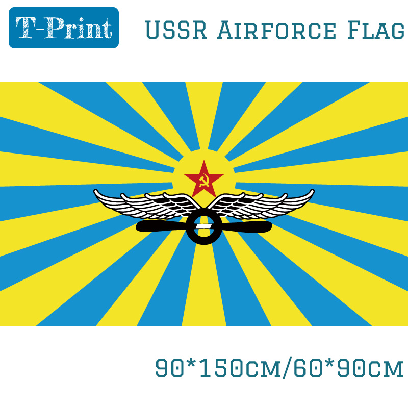 90*150 cm/60*90 cm URSS Drapeau De Soviétique Air Force Polyester Drapeau Russe Pour La Victoire jour Journée Nationale CCCP Drapeau