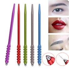 1pcs Manual Eyebrow Semi Permanent Makeup Pen Tattoo Machine 3D Microblading Fog Lip Eye Brow Munsu Tebori Pencile Tool