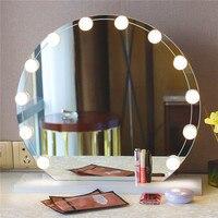New Beauty Room LED Lighting Lights Strip 12leds LED String USB LED Light Lamp Mirror Strip Lamp Pure White Home Decor