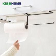 2 Colors Kitchen Paper Hanger Sink Roll Towel Holder Organizer Rack Iron Bathroom Shelf Hanging Door Hook
