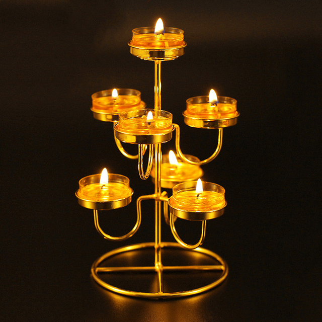 Aliexpress.com : Buy Butter Lamp Candle Holders Stainless Steel ...