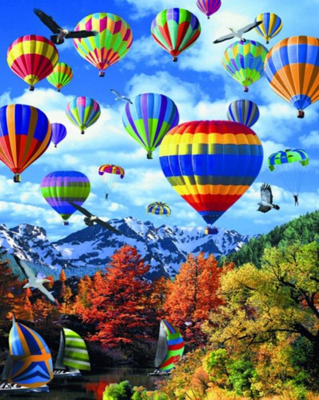 Hot Air Balloon DIY 5D Diamond Painting Cross Stitch Kits Home Decor Crafts Art