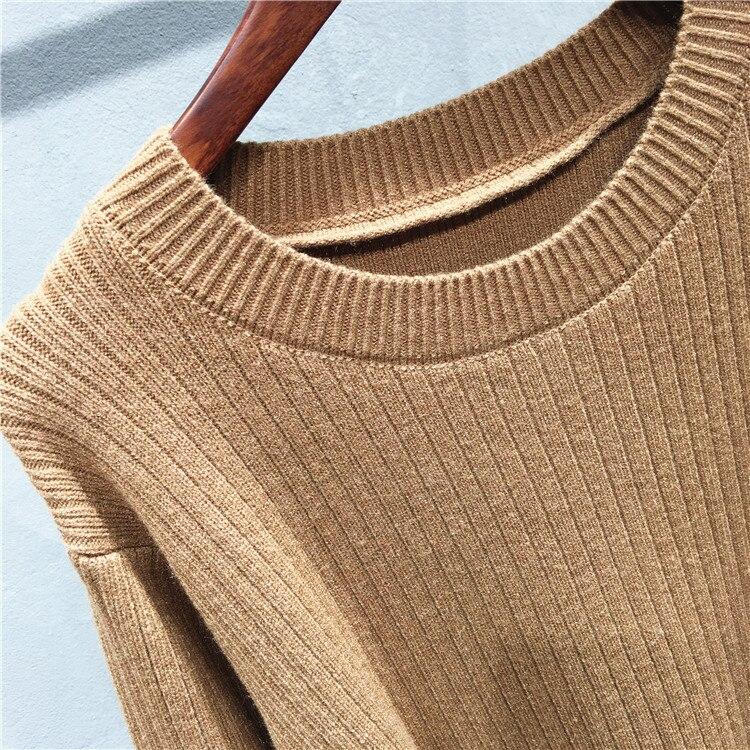 2019 New Autumn Winter Women Sweater Dress Bodycon Slim Bottom Office Dress Ladies Elastic Thicken Pencil Knit Dress With Belt