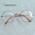 Retro round metal frame glasses with clear lenses men women eyeglasses 9103