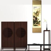 купить ShaoFu Silk Painting Scroll Chinese National Handicraft Famous Scroll Painting The Great Wall Home Office Decoration Gifts по цене 4236.13 рублей