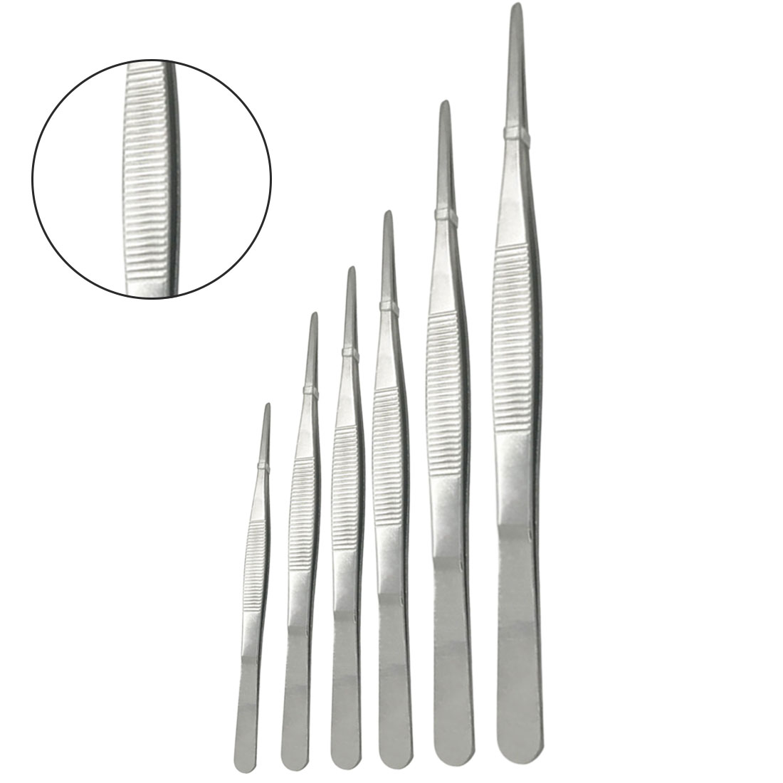 Stainless Steel Tweezers 12.5cm/16cm/18cm/20cm/25cm/30cmMedical Dental Precision Long Straight Forceps Tweezers
