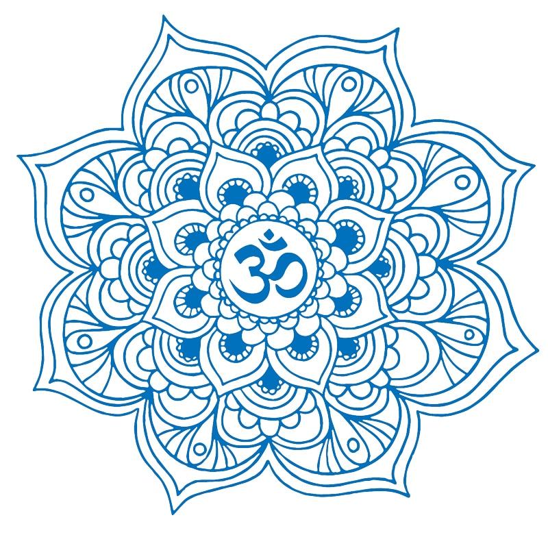 Mandala duvar çıkartmaları dekor hint yoga oum om burcu - Ev Dekoru - Fotoğraf 4
