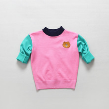Retail Children's Clothing L*E Hot Sale Fall Sweater Boys And Girls Kids Cotton Pullover Solid Cartoon Soft Tops Fashion Sweater