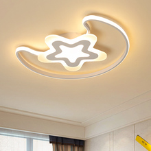 Moon And Star Modern LED Ceiling Lights Iron Acrylic White Lamp For Bedroom Childrens room table lamp home lighting