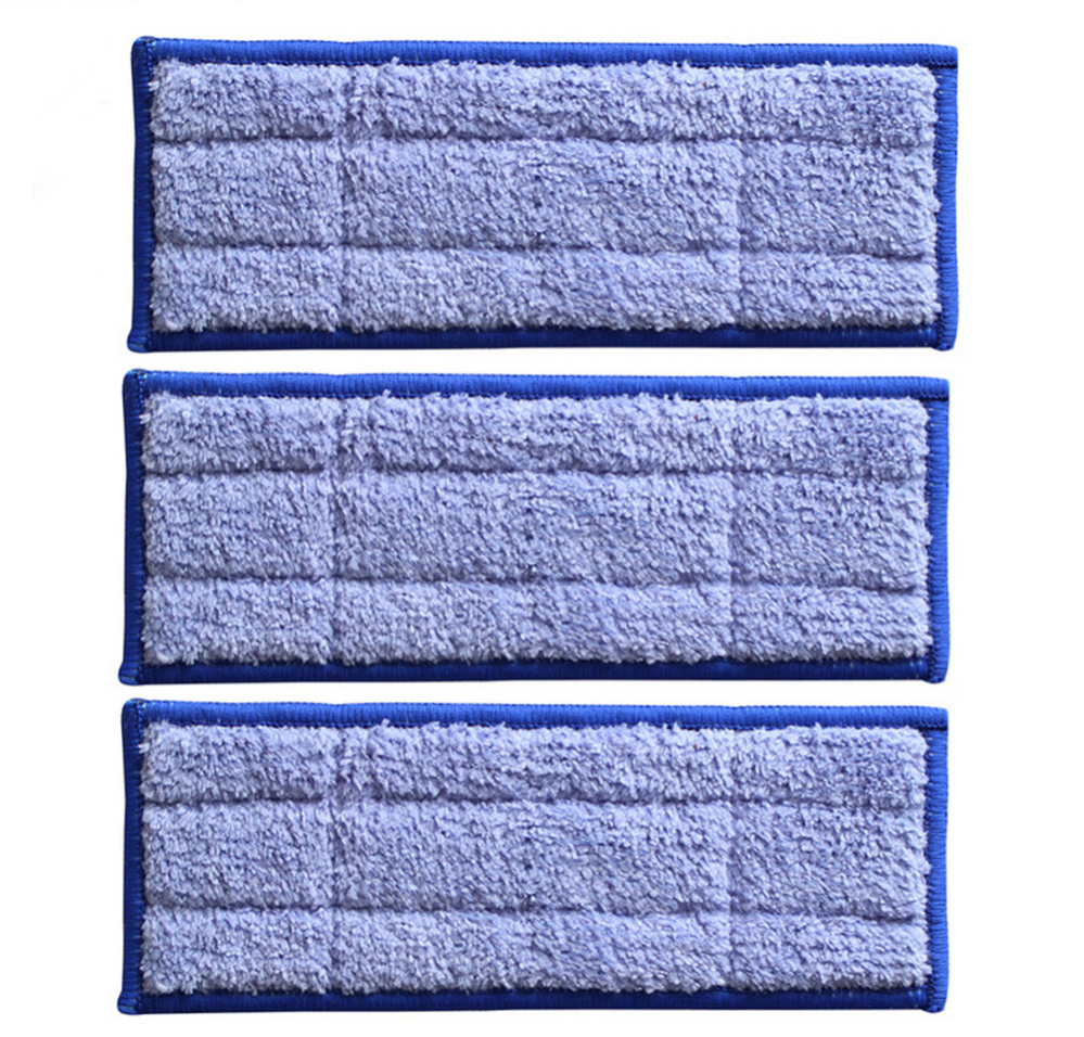 New 3pcs Microfiber Fabric Replacement Triple-pass Washable wet sweeping Pad mopping pads for iRobot Braava Jet 240  microfiber wet room pads 24 in long split nylon polyester blend blue