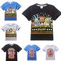 2016 Hot Vendas de cinco noites em freddy camisa dos miúdos t fnaf crianças roupas menino de manga curta roupas de verão do bebê do menino caçoa o tshirt