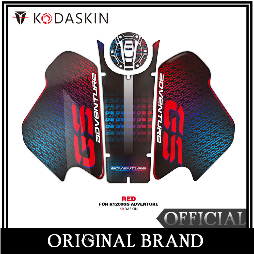KODASKIN Motorcycle for BMW R1200GS ADV 2018 2019 3D Applique Tank Pad Sticker Decal Emblem GRIPPER STOMP GRIPS EASY Red in Decals Stickers from Automobiles Motorcycles