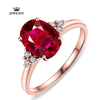 18 К Чистый Алмаз Природные RubyPigeon Крови Кольца Романтический и Сияющий Классический и Элегантный Красивый и Мода 750 Твердые
