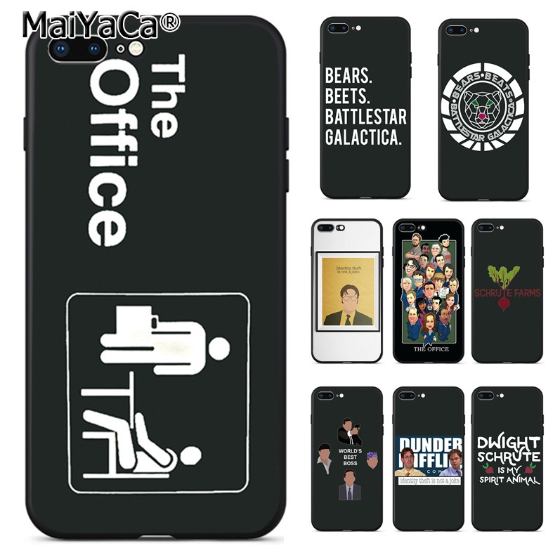 MaiYaCa the office cast meme Michael Scott tv Cool Phone Accessories Case for Apple iPhone 8 7 6 6S Plus X 5 5S SE 5C case Cover