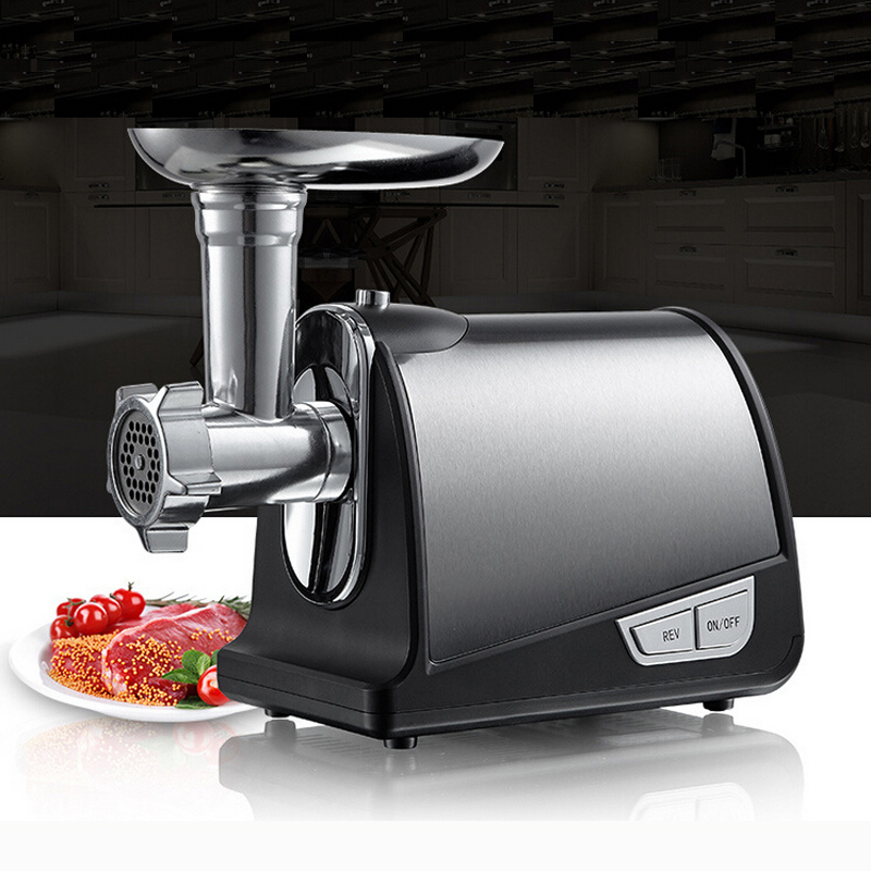 VOSOCO meat grinder Multifunctional electric automatic Stainless steel meat grinder sausage vegetable for household commercial