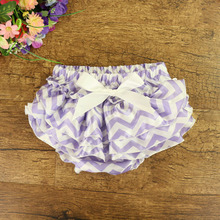 От 0 до 2 лет, Короткий полосатый галстук-бабочка трусики с оборками из сатина, полиэстера, синего и розового цвета, Одежда для новорожденных