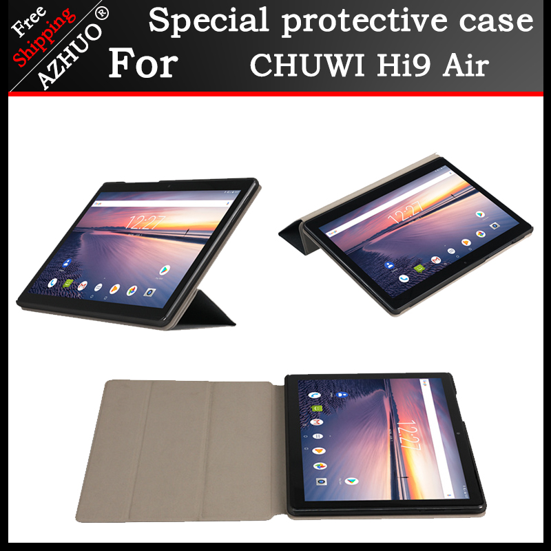 Original PU Leather Case For Chuwi HI9 AIR 10.1inch tablet, Protective stand cover For chuwi hi9 air Tempered glass film