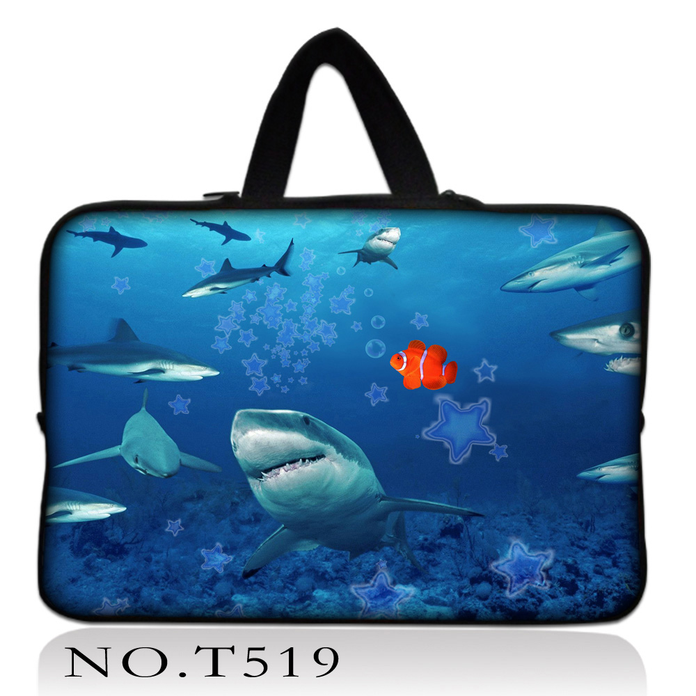 Sharks laptop bag Neoprene Tablet Sleeve Case For 10 11.6 13.3 15.4 17.3 inch Laptop Sleeve For Macbook Air/Pro/Retina