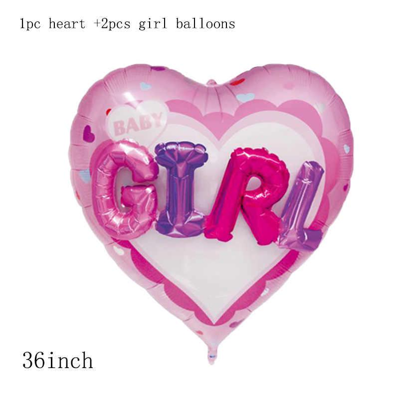 1pc 36 polegada 3D coração baby girl boy carta Foil Balloons decorações da festa de aniversário do casamento do amor crianças bola de hélio na bola globos