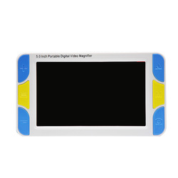 5 Inch Screen Portable Digital Magnifier Low Vision Electronic Visual Aids Video Microscope 4x To 32x Ys500(UK Plug)