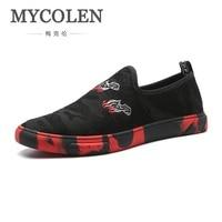 MYCOLEN 2018 Spring Summer New Arrive Men Shoes Comfortable Breathable Men's Shoes Handmade Casual Men Flat Shoes Botas Hombre