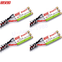 4pcs Lot Original DYS XS20A 20A BLHeliS Oneshot42 Multishot FPV Mini ESC Electrical Speed Controllers Solder