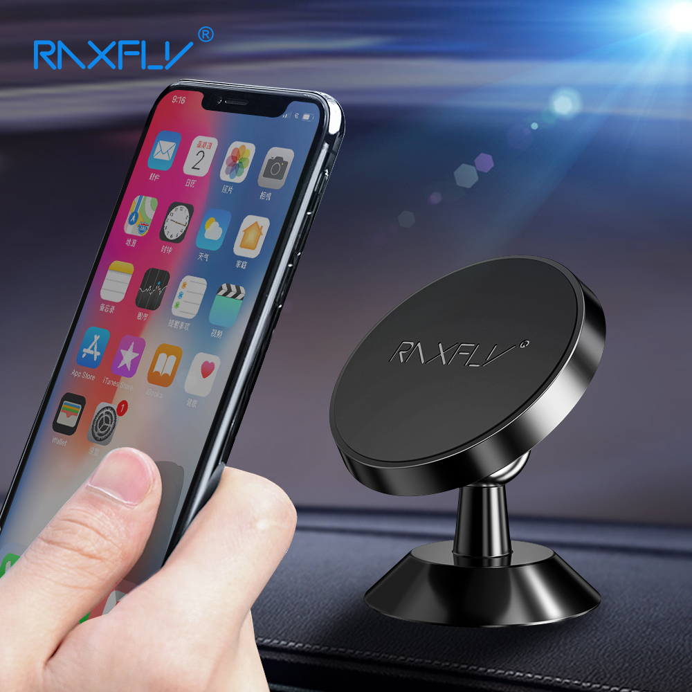 RAXFLY Magnetic Stand Car Holder For IPhone XS MAX XR X 8 7 Plus Car Phone Holder 360 Rotation Magnet Support For Samsung Xiaomi