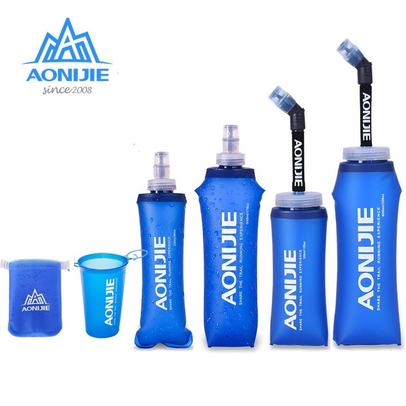 170ml 200ml 250ml 500mml 350ml 600ml AONIJIE Running Sport Bicycle Soft Water Bottle Folding TPU Soft Flask Water Bag