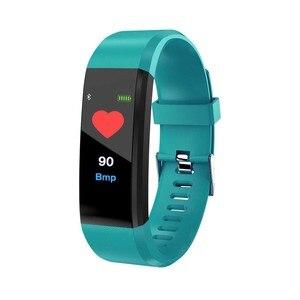 Image 4 - Rovtop 115 בתוספת חכם צמיד לחץ דם שעון גשש כושר קצב לב צג להקת חכם פעילות Tracker צמיד