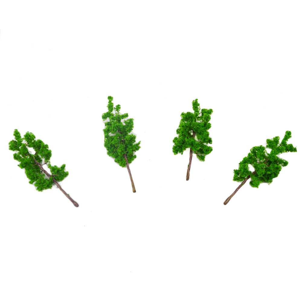 100pcs 43mm Scale Train Layout Set Model Wire Green Tree Kits Trunk Landscape Miniature Construction Of Railway