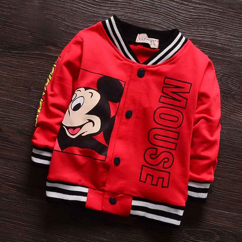 9M 3T) Kids Cartoon Single Breasted Baseball Jacket Boys Children ...