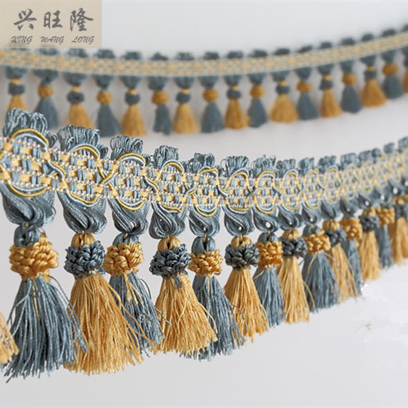XWL New 6M/Lot 10cm Wide Curtain Lace Accessories Double Color Tassel - Arts, Crafts and Sewing - Photo 1