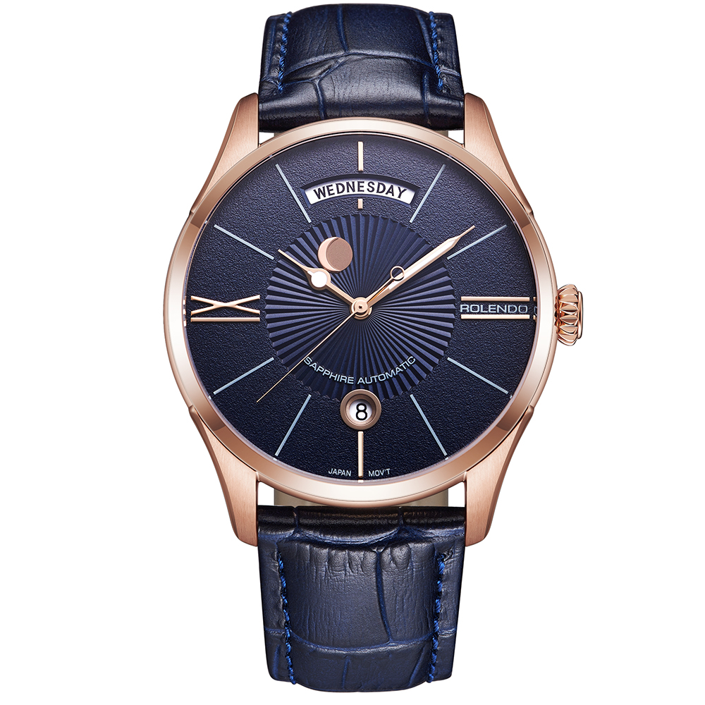 Rolendo 2018 Top Brand Luxury Hot Sale Automatic Couples Watch Steel Material Leather Watchband Leisure Man Mechanical WatchesRolendo 2018 Top Brand Luxury Hot Sale Automatic Couples Watch Steel Material Leather Watchband Leisure Man Mechanical Watches
