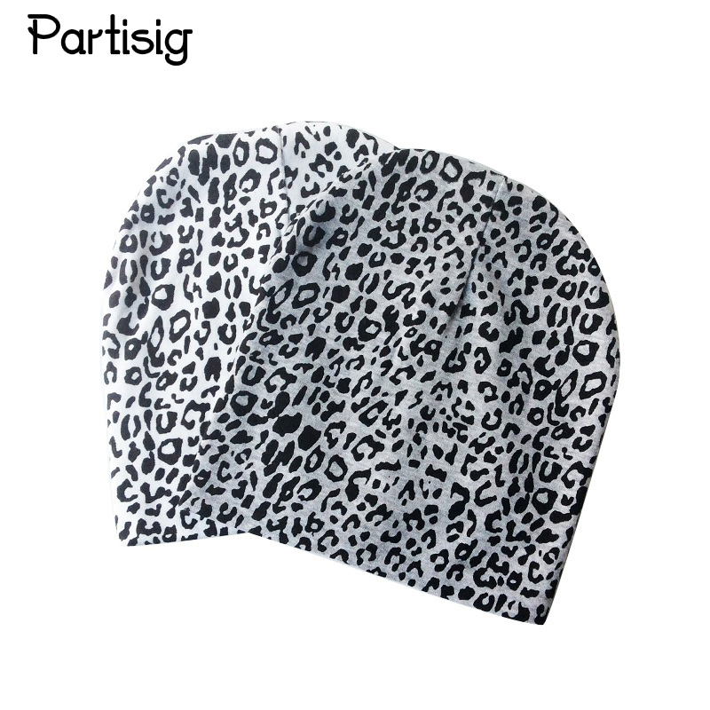 Partisig Brand Leopard Print Baby Cap Cotton Knit Beanie Hats For Boys And Girls Childrens Hats Caps