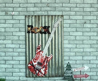 ROCK Large Guitar Tin Sign Vintage Iron Painting KTV Bar Hanging Ornaments Decor Retro Mural Poster Metal Wall Sticker 60X40 CM