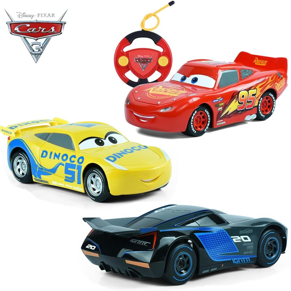Disney автомобили 3 Новый Маккуин Джексон Крус Дистанционное управление Juguete CARROS Игрушечные лошадки Р/У Машинки 3 для детей мальчиков и девочек Подарки на день рождения без коробка