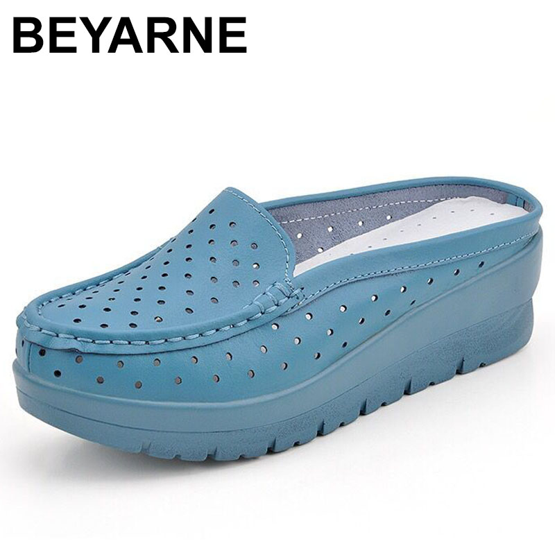 BEYARNE Plus Size 35-40 Hot High Heels Women Flip Flops Summer Sandals Platform Wedges Slippers Girl's Fashion Beach Shoes summer style comfortable bohemian wedges women sandals for lady shoes high platform flip flops plus size sandalias feminina z567