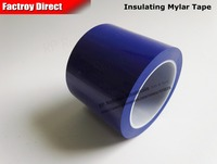 Size 85mm 66Meter One Side Adhered Isolated Mylar Tape For Transformers Packing Blue