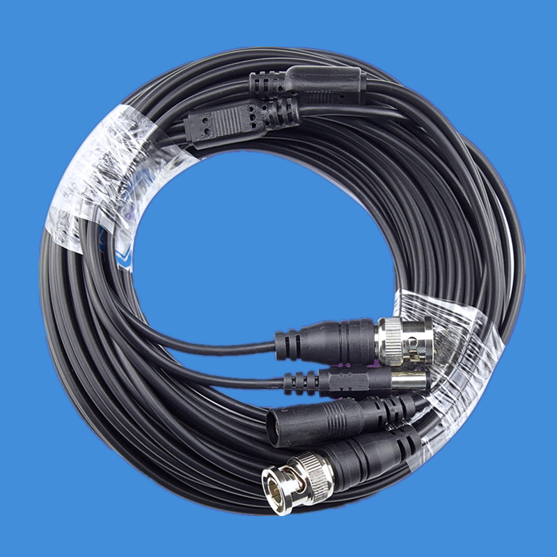 BNC Cable 5M/10M/15M/20M/30M/50M Optional CCTV Cable Video Output DC Plug Cable For AHD BNC System DVR Kit Camera Accessories
