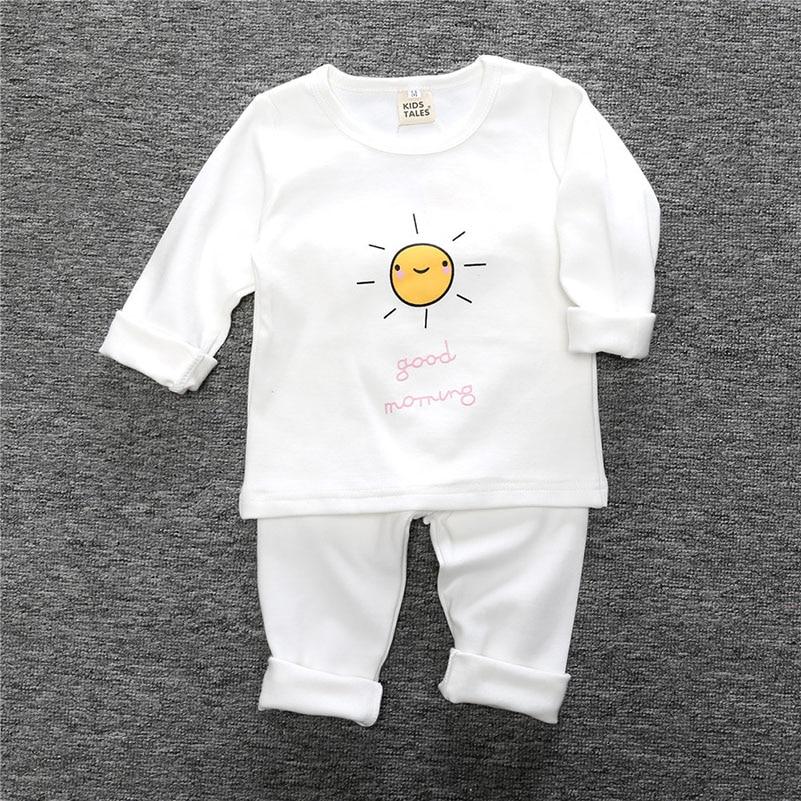 Frühling Herbst Baby Pyjama Anzug Hause Kleidung Schlafanzug Langarm Baumwolle Pyjama Netter Junge Mädchen Kleinkind Loungewear Gute qualität
