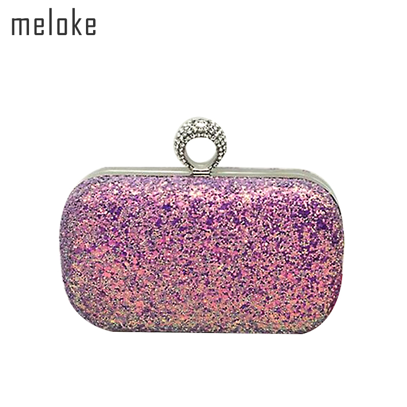 Meloke 2018 new mini sequines evening bags luxury mini wedding bags fashion  clutch wallets for ladies diamond bags MN599-in Top-Handle Bags from Luggage  ... d8611c968666