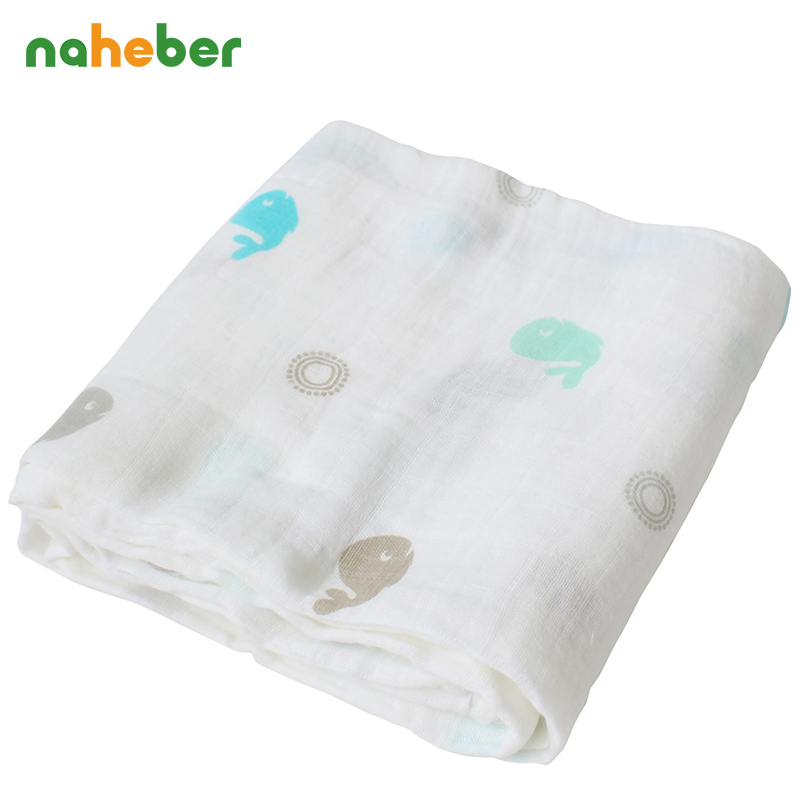 Baby Swaddles 120*120cm Cotton Baby Blankets For Newborns Super Soft Double Layer Gauze Bath Towel For Inflant Muslin Hold Wraps