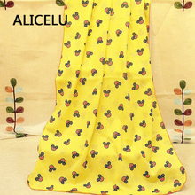 ALICELU New Cannon Cartoon Portable Foldable Multifunctional Baby Shawl Shawl Baby Napkin Beach Bath Towel Towel Cover Blanket(China)