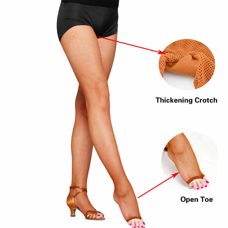 557640ad23f43 ... 4 Pairs Fashion Dance Practice open toe Sexy Fishnet Pantyhose for Women/female/lady  ...