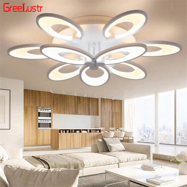 Modern Remote Control LED Ceiling Lamp Aluminum Acrylic Chandelier Ceiling Luminaria de teto Dimming LED Ceiling Light Lustres